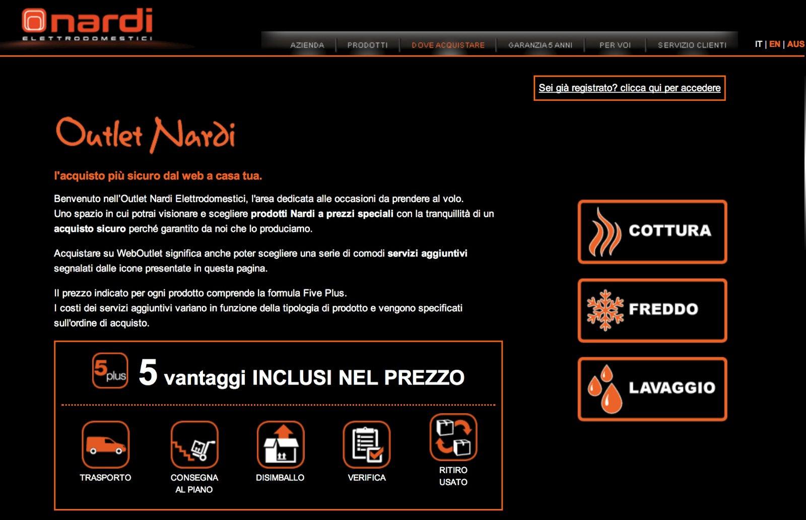 L\'outlet degli elettrodomestici Nardi è online - Cose di Casa