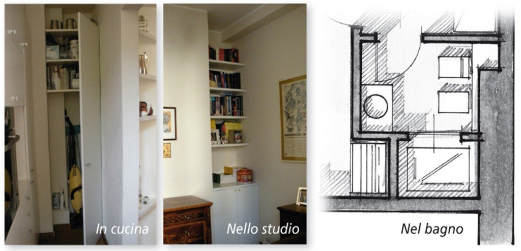 Una casa di 80 mq superfunzionali cose di casa - Creare un bagno in poco spazio ...