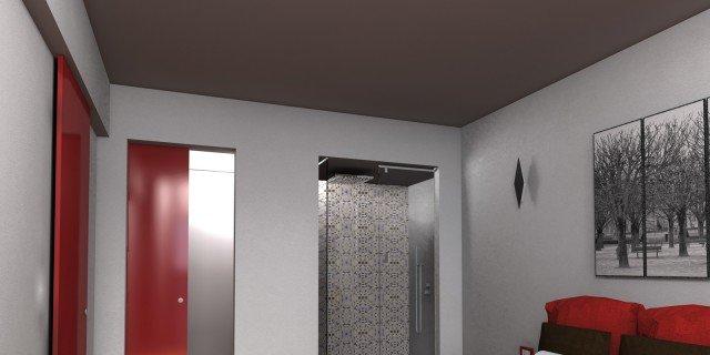 Due cabine armadio in più e la doccia in camera
