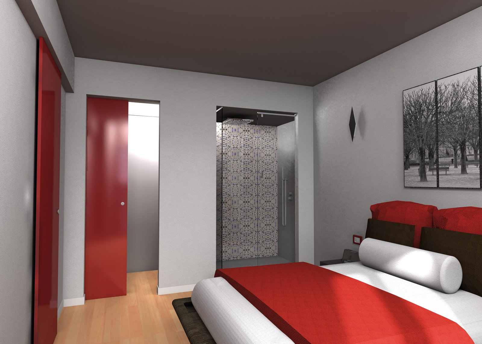 Due cabine armadio in pi e la doccia in camera cose di casa for Quanto comprare una casa con 2 camere da letto