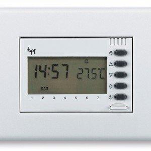 Disponibile in tre colori, il modulo OH/Z.02 GR di Bpt, consente il controllo manuale e automatico, della temperatura nell'ambiente. www.bpt.it
