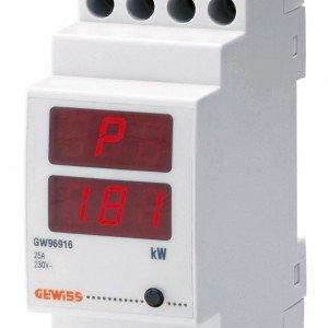 Il dispositivo P-Comfort di Gewiss si installa nel centralino e segnala se si stanno superando i limiti di consumo; in caso di sovraccarico toglie la corrente agli elettrodomestici non prioritari, scelti dall'utente. www.gewiss.com