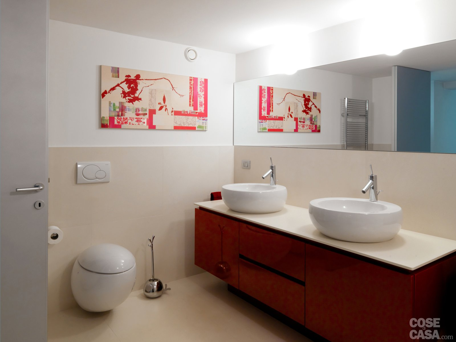 Una casa su due piani da un ex garage cose di casa - Piastrelle bagno altezza 120 ...