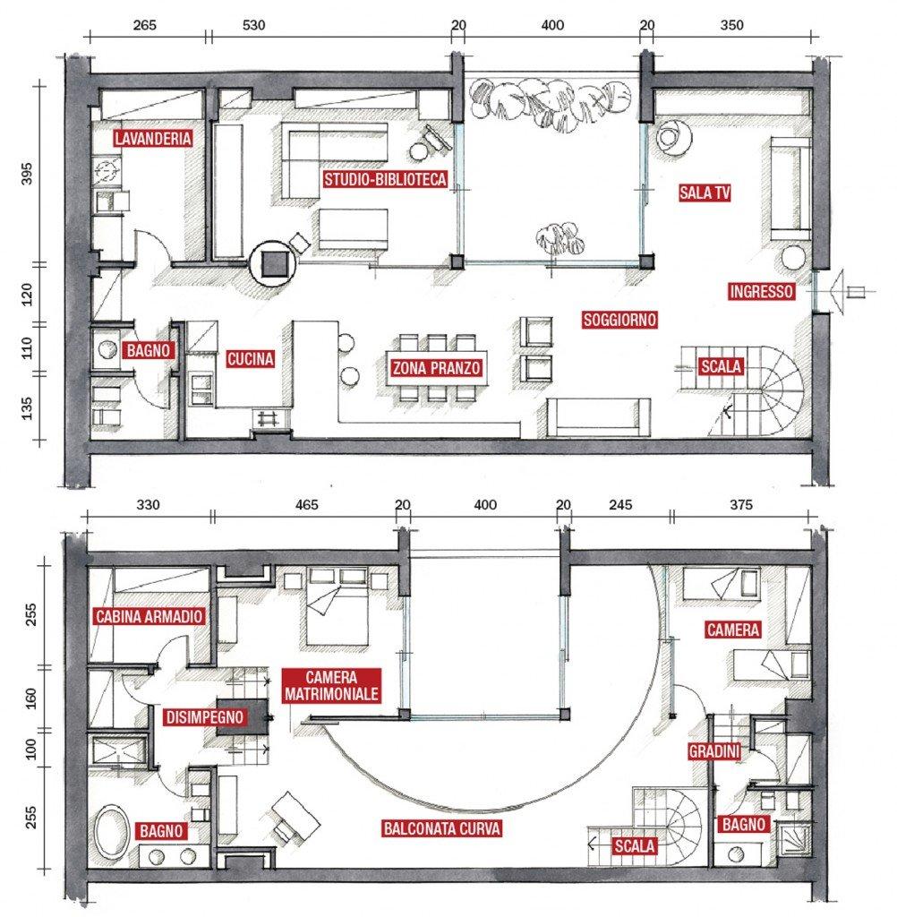 Una casa su due piani da un ex garage cose di casa for Piani economici della cabina di ceppo
