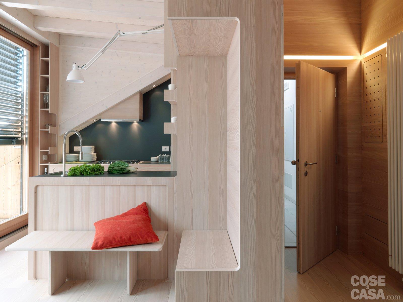 Casa di montagna sfruttata al centimetro cose di casa - Ingressi case moderne ...