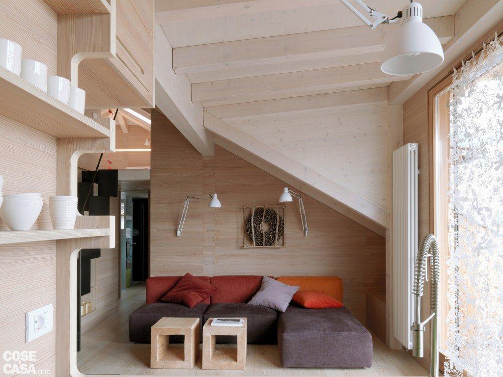 Casa di montagna sfruttata al centimetro cose di casa for Piccole immagini del piano casa