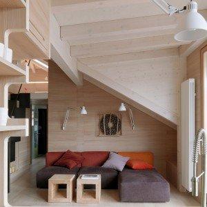 Simple progetto casa montagna sfruttata al centimetro with tende casa montagna - Tende per casa montagna ...