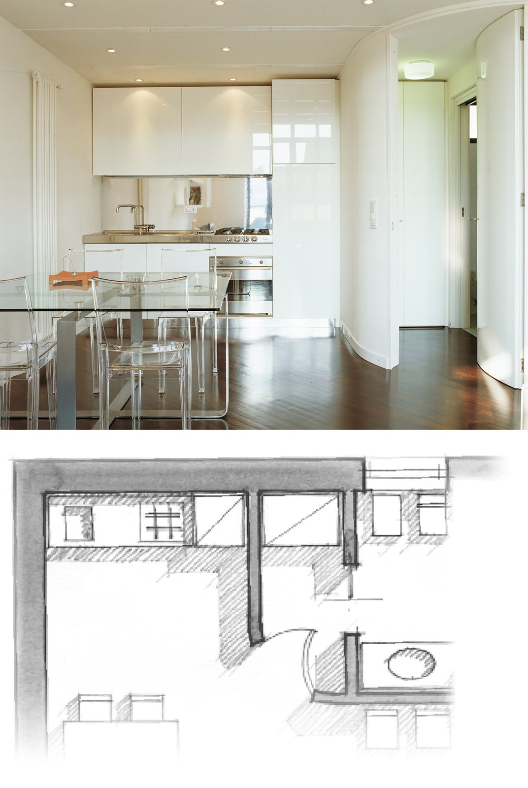 Una casa a doppia altezza con soppalco di 70 mq cose di casa for Case piccole arredate