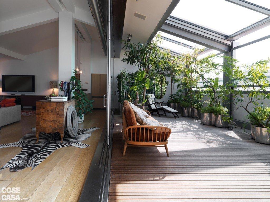 Protagonisti travi e pilastri cose di casa - Arredare una terrazza con piante ...