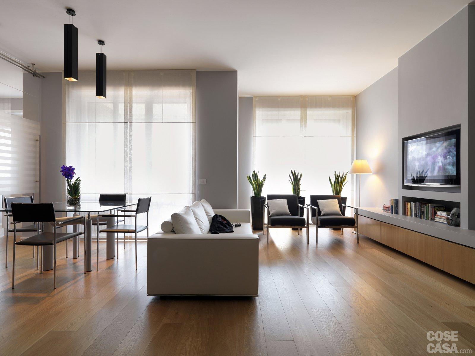 Una casa con una nuova articolata distribuzione cose di casa for Salotto e soggiorno