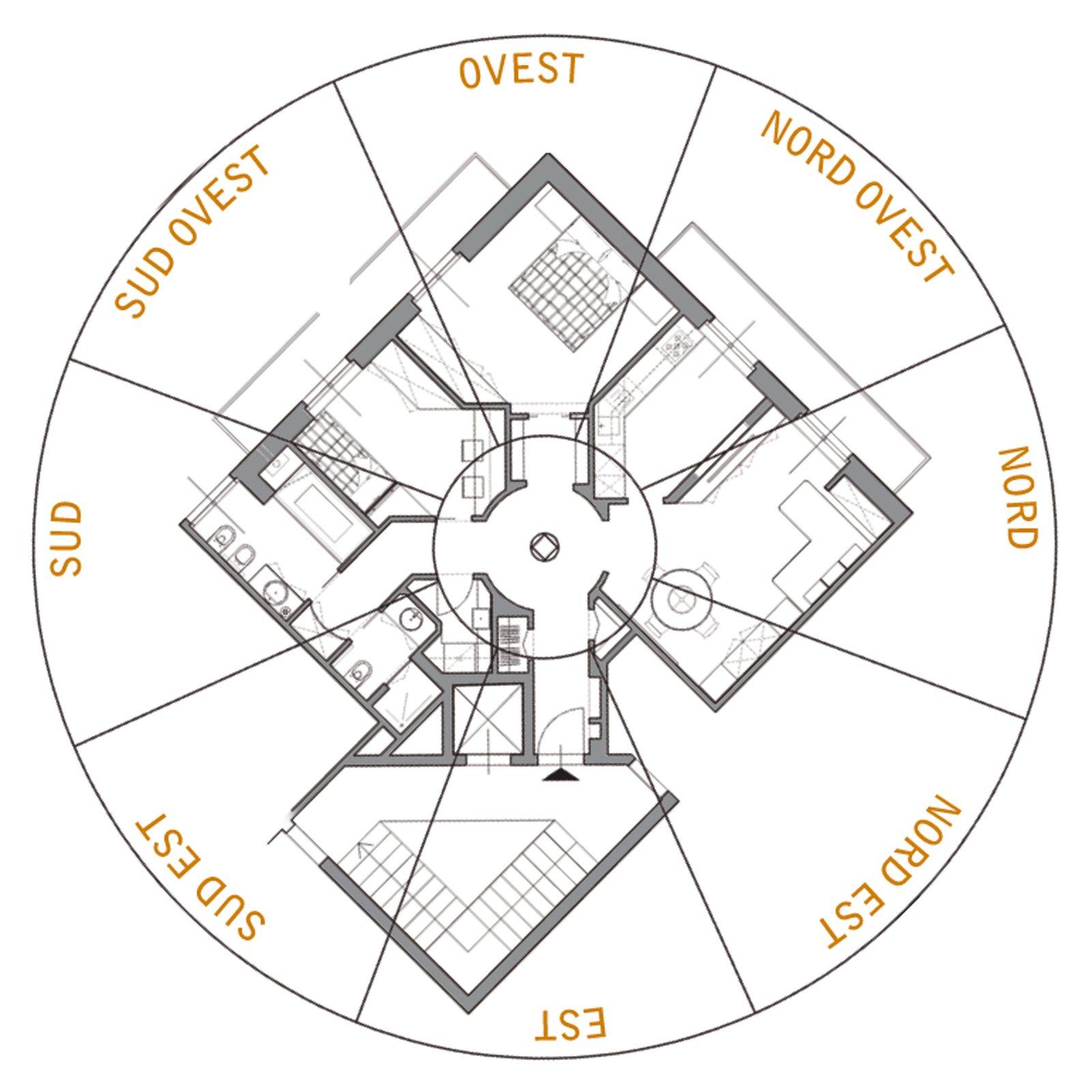 75 mq un trilocale pensato per il benessere cose di casa - Posizione letto feng shui ...