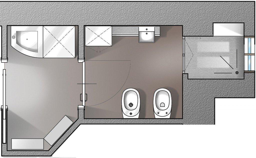 Il bagno a norma cose di casa - Misure bagno minime ...