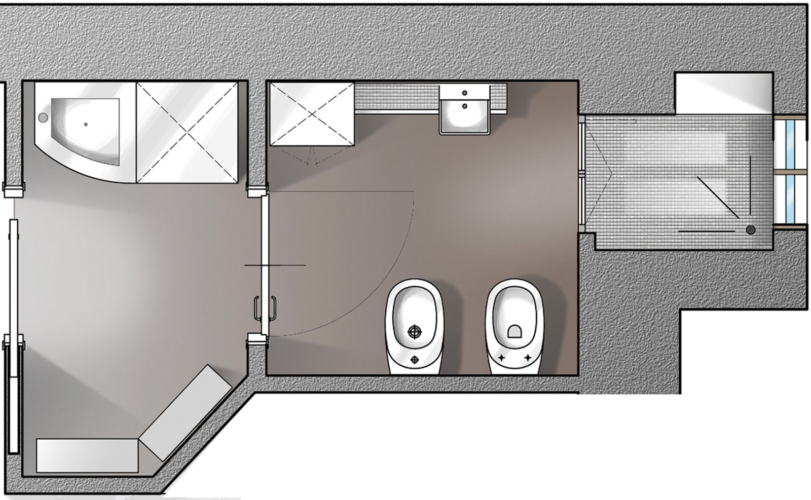 Il bagno a norma cose di casa - Progetto bagno 2 mq ...