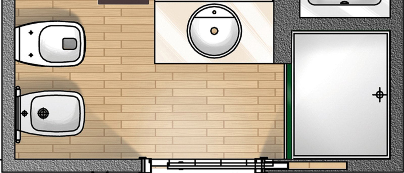 Mobili lavelli finestre bagno dimensioni - Ingombro sanitari bagno ...