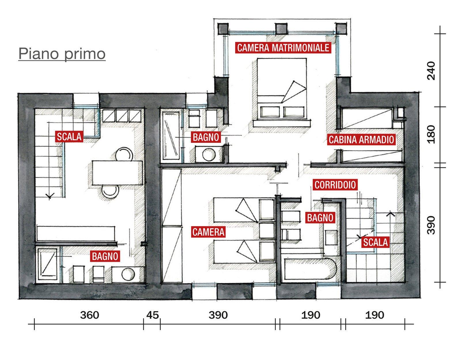 Progetto casa a due piani af07 pineglen for Piani di sauna a casa