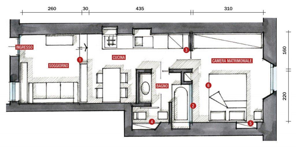 Forum ristrutturazione appartamentino 45mq for Arredamento casa como