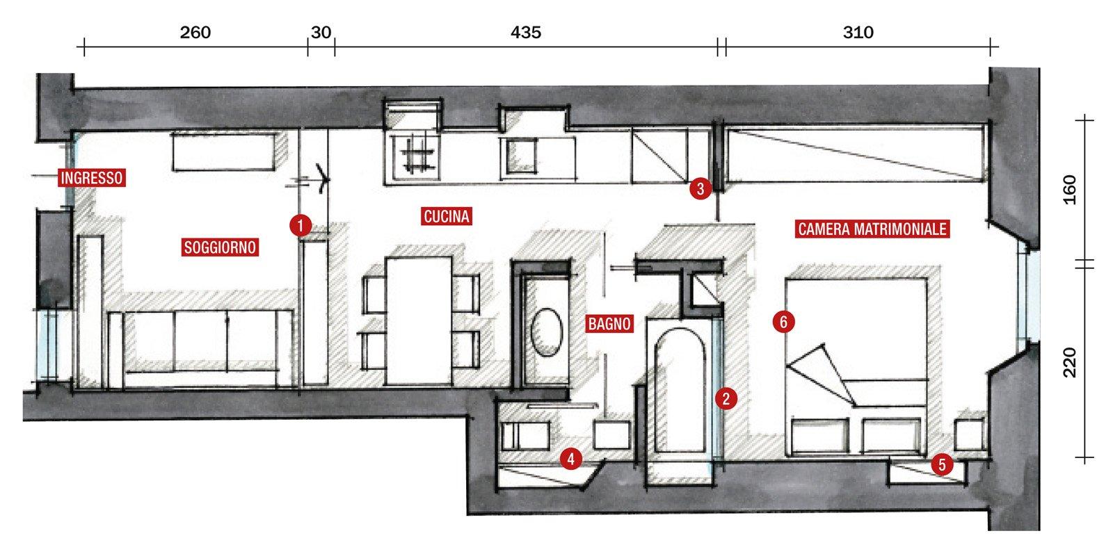 Una casa di 35 mq sfruttati al massimo cose di casa for Monolocale dwg