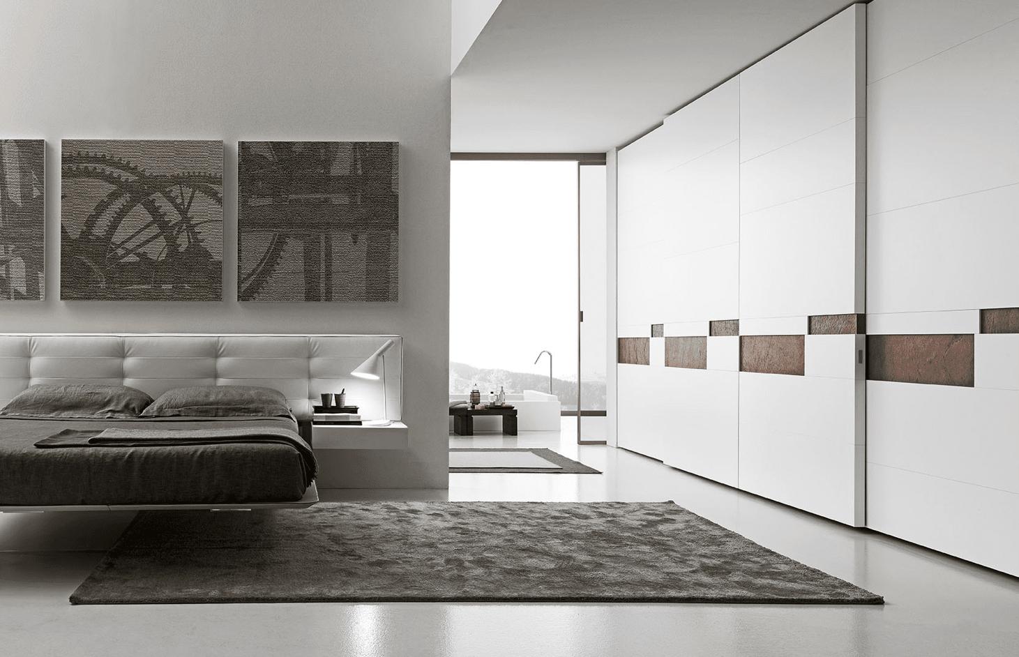 Camera da letto grigio chiaro : camera da letto arredamento ...