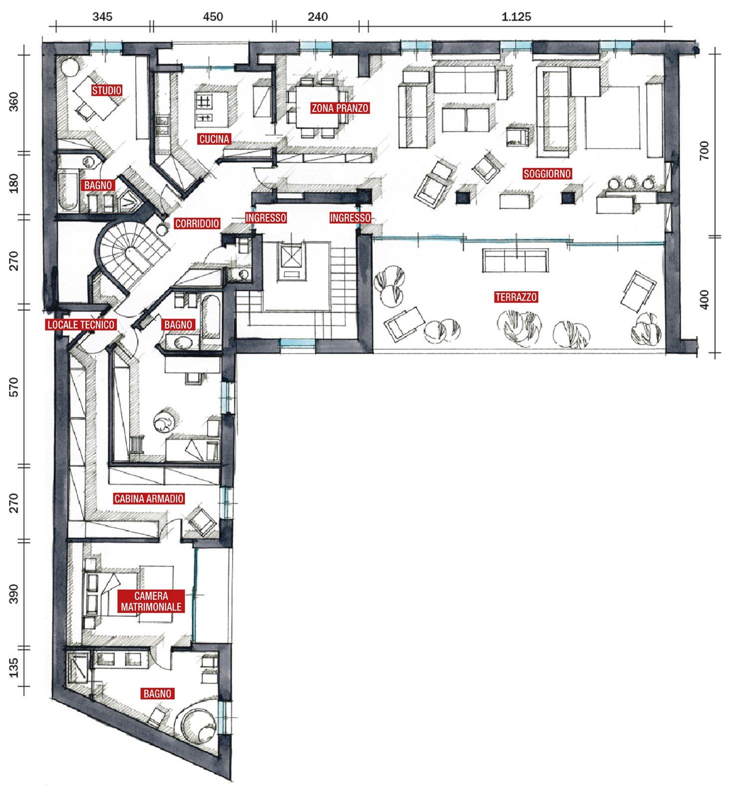 Protagonisti travi e pilastri cose di casa for Casa moderna pianta