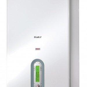Family Condens 2.5 Kis di Riello ha potenza termica di 25 kW la caldaia a condensazione per riscaldamento e acqua sanitaria. Esiste anche in versione da esterno. Misura L 45,3 x P 35,8 x H 84,5 cm. Prezzo 3.339 euro. www.riello.it