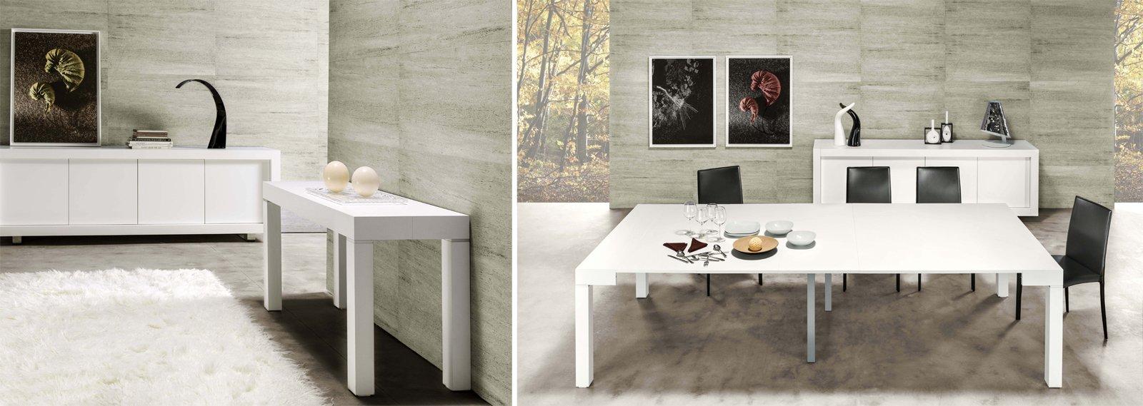 La console che diventa maxi tavolo cose di casa - Tavolo consolle riflessi p300 prezzo ...