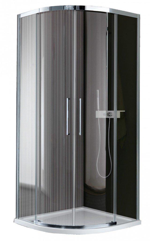 Il box della collezione Trendy – serie Vis di Samo è in cristallo a due ante scorrevoli. Misura 75,5/77,5 x 75,5/77,5 cm. Prezzo 1.651 euro. www.samo.it