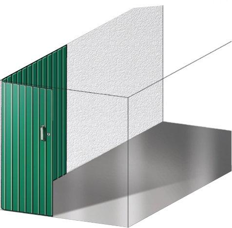 Scorrevole - Il portone si apre lateralmente scorrendo, all'interno del box, a ridosso di una parete. Per agevolare il movimento, a terra e a soffitto, devono essere installate guide che accolgono i profili dell'anta.