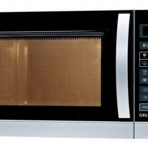 Il forno a microonde R-742 di Sharp da 25 litri, è dotato di funzione grill. Con pannello dei comandi Touch control, regolabile su 11 potenze e con 6 programmi automatici, è estremamente facile da usare. Prezzo 129 euro. www.sharp.it