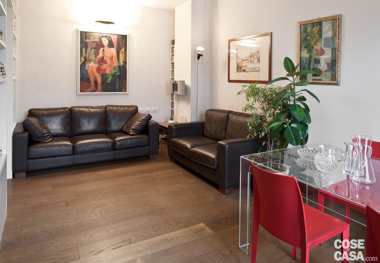 Una Casa Di 80 Mq Superfunzionali Cose Di Casa #9D2E35 1600 1110 Sala Da Pranzo Parquet