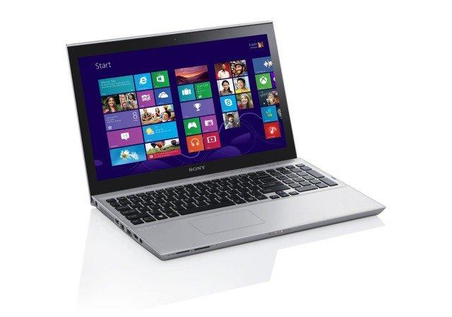 """Il portatile VAIO Ultrabook™ SV-T1312M1ES di Sony da 13,3"""" ha schermo tattile da 33,7 cm. Funziona con sistema operativo Windows 8**. Dispone di scheda grafica Intel HD Graphics 4000, WLAN, Bluetooth 4.0 e HD Webcam con funzione Exmor. Prezzo 799 euro. www.sony.it"""