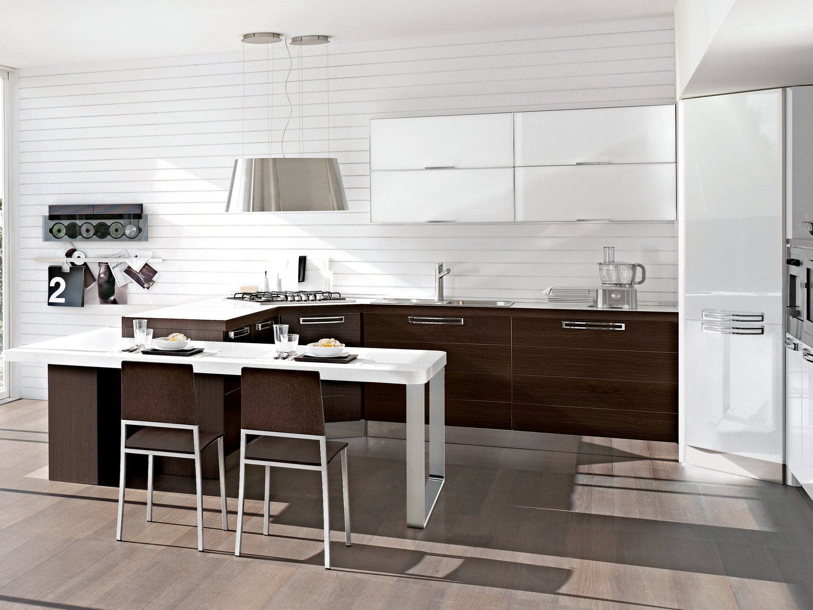 La cucina in soggiorno cose di casa - Cucina senza piastrelle ...