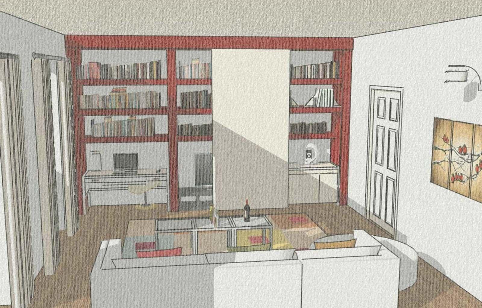 Lo studio nascosto all 39 interno del mobile cose di casa for Piani di casa con stanza della torre