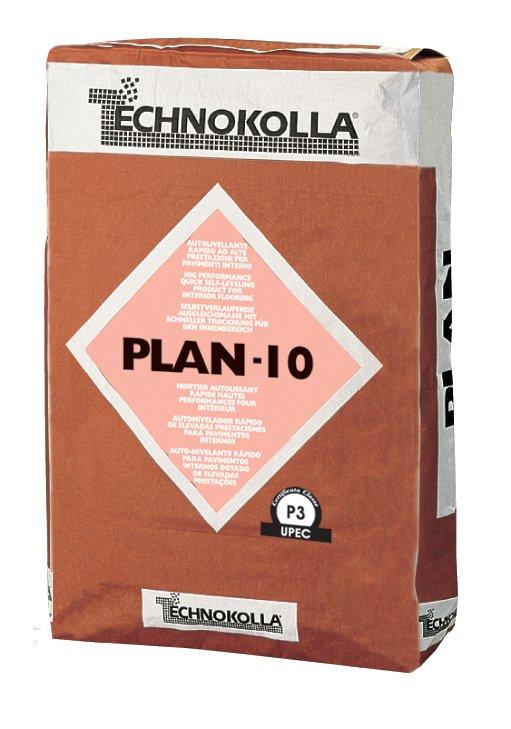 Plan 10 di Technokolla è un prodotto autolivellante rapido che serve per preparare i fondi da 2 a 10 mm per la posa dei pavimenti. È costituito principalmente da cementi ad alta resistenza. È disponibile in sacchi da 25 kg. www.technokolla.com
