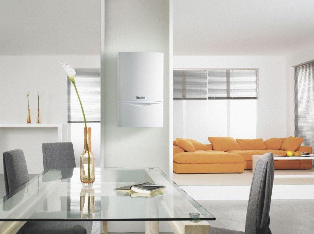 Installazione di caldaia della Vaillant in un ambiente in stile moderno