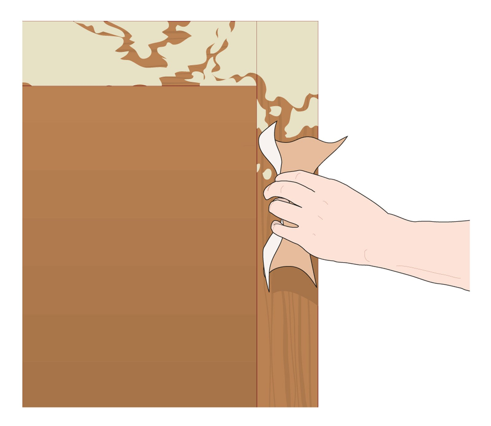 Come Sistemare Una Porta In Legno dipingere una persiana in legno - cose di casa