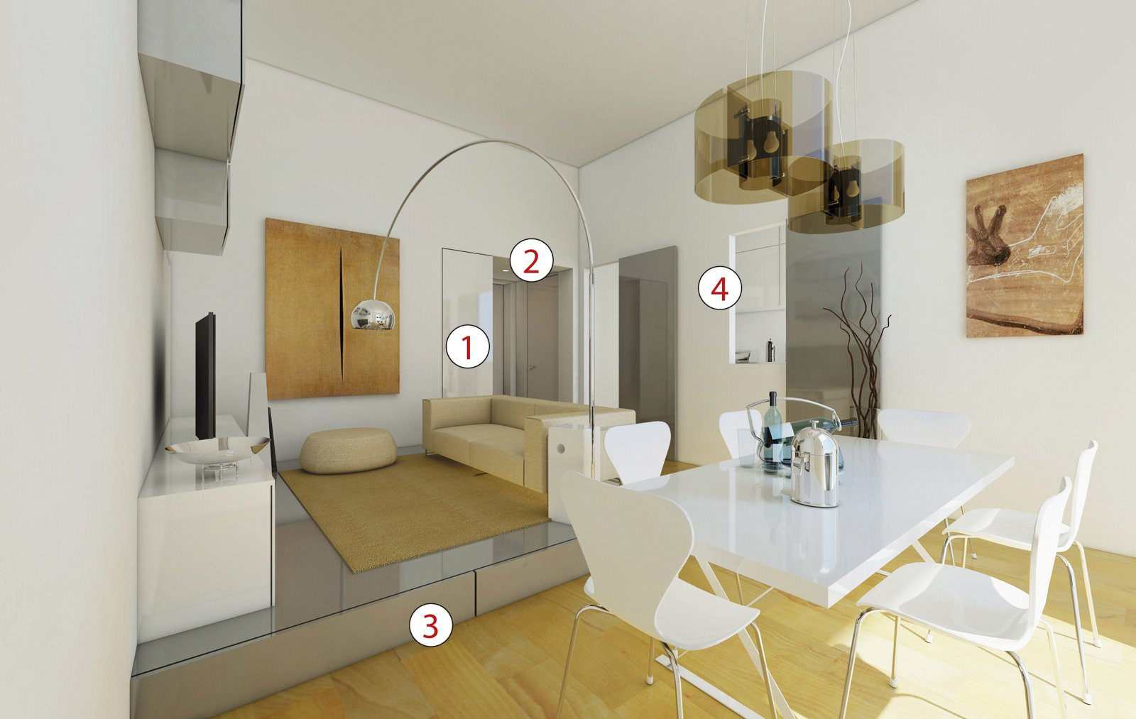 Illuminazione sala da pranzo: cucine con isola   cose di casa ...