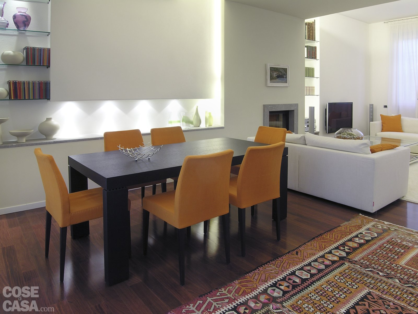 Una Casa Con Tante Idee Da Copiare Cose Di Casa #986C33 1600 1200 Illuminare Sala Da Pranzo