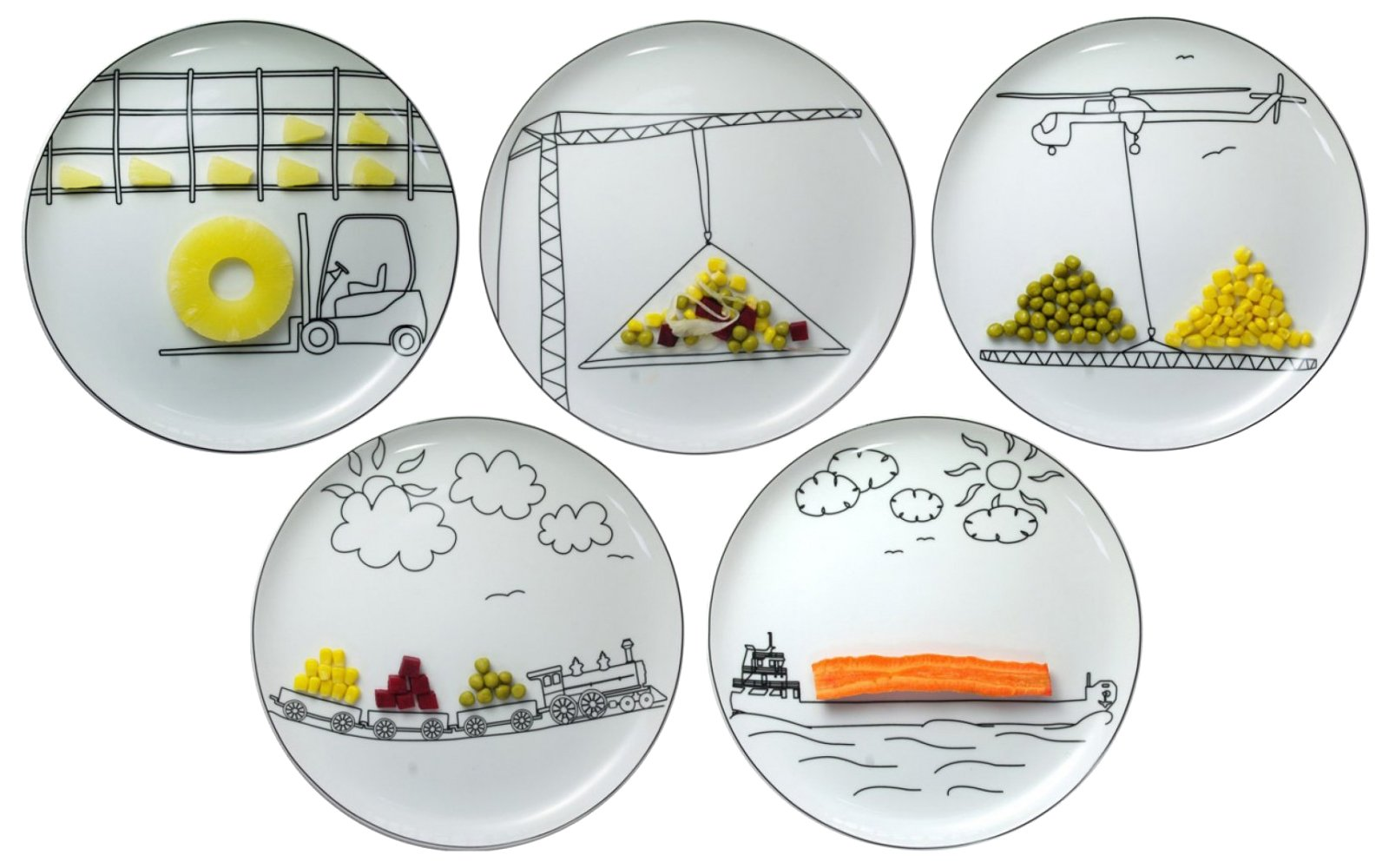 Piatti colorati o decorati per fare bella la tavola cose - Piatti da cucina moderni ...