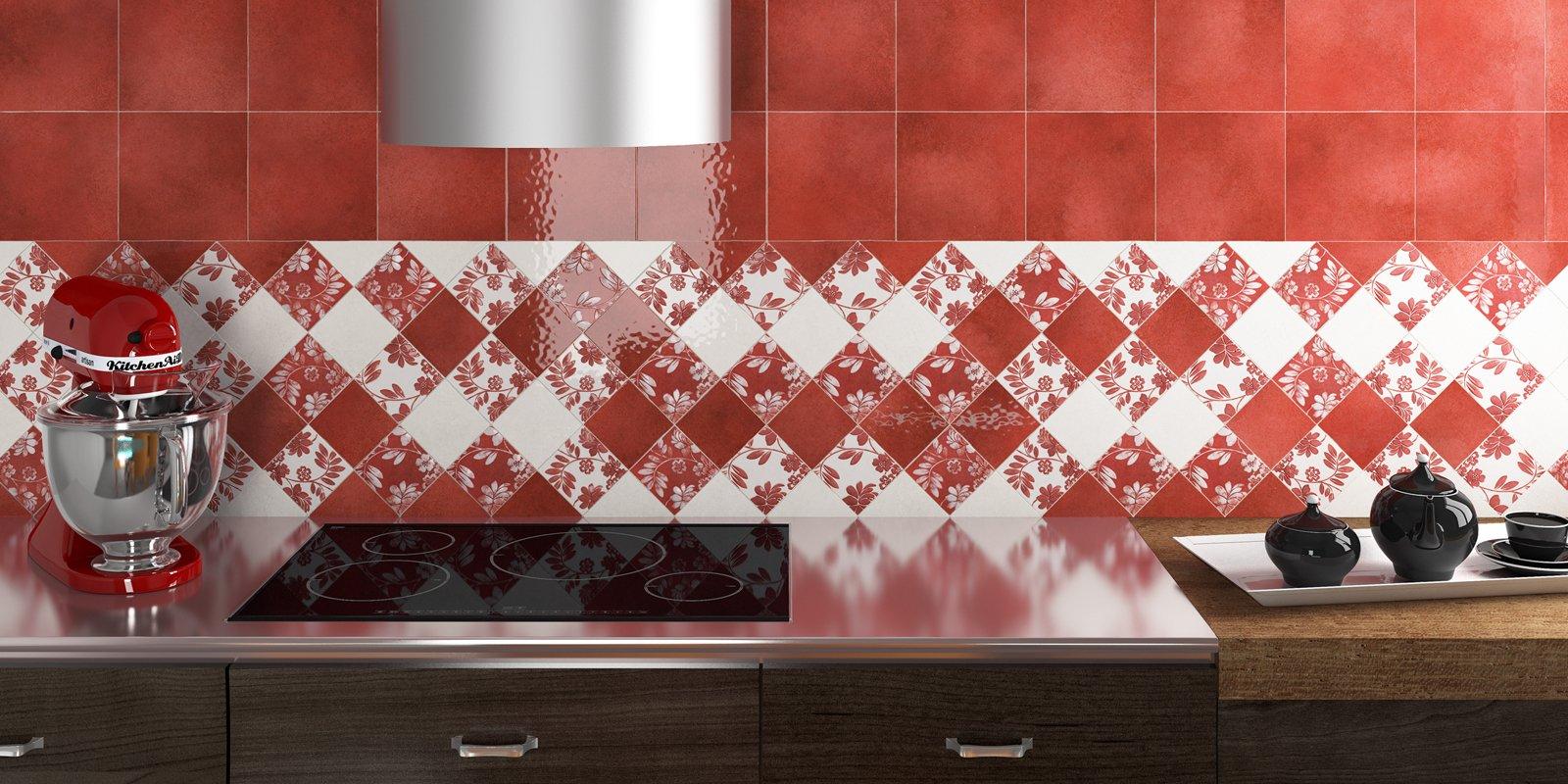 Cucina piastrelle per le pareti cose di casa - Piastrelle cucina rosse ...