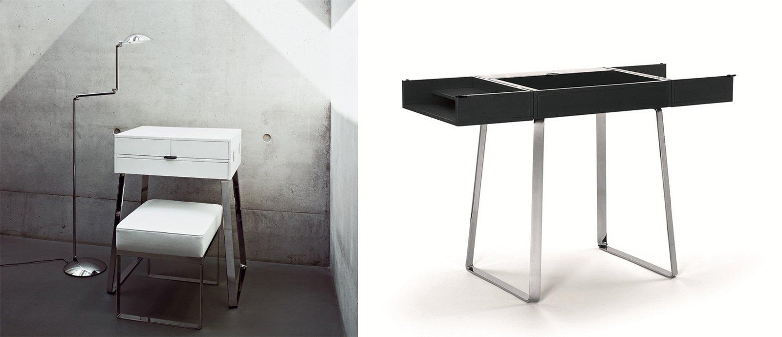 ribalta con vani laterali e un cassetto. Il piano scrivania ...