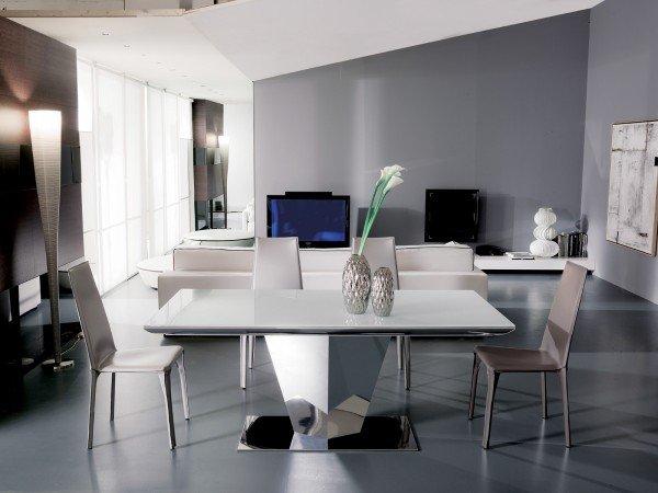 Tavolo bianco da abbinare a tutto cose di casa for Tavoli living moderni