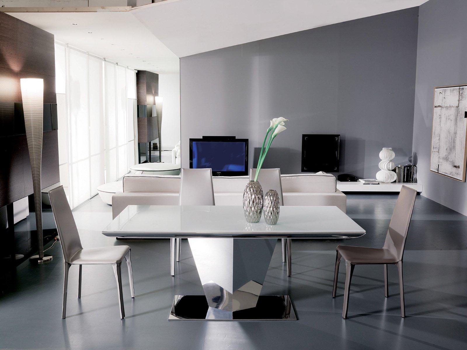 Tavolo bianco da abbinare a tutto cose di casa - Tavolo cristallo design ...