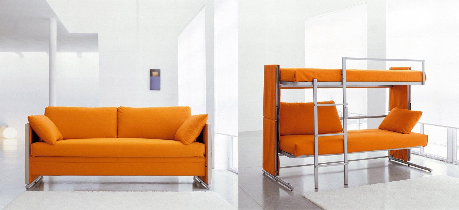 Divani letto per risparmiare spazio cose di casa - Divano letto a scomparsa prezzo ...