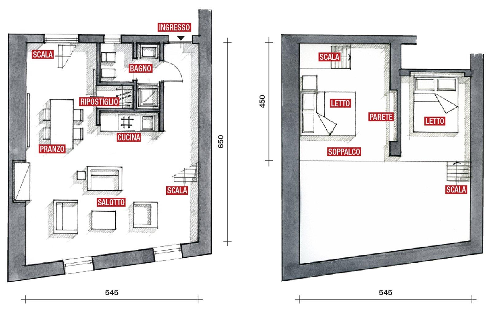 La casa cresce annettendo il sottotetto da 35 a 60 mq for Moderni disegni di case a due piani