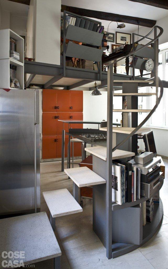 Casa piccola 43 mq soppalco per studio e cabina armadio - Stanza da letto ikea ...