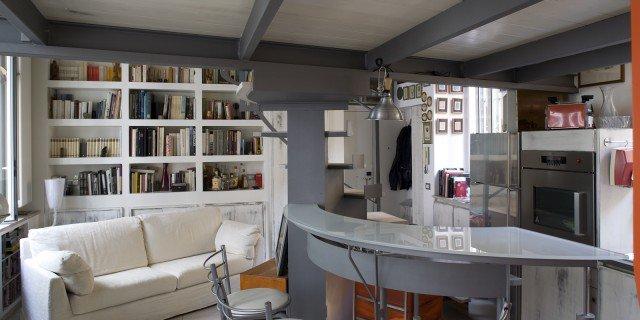 Casa piccola: 43 mq + soppalco per studio e cabina armadio