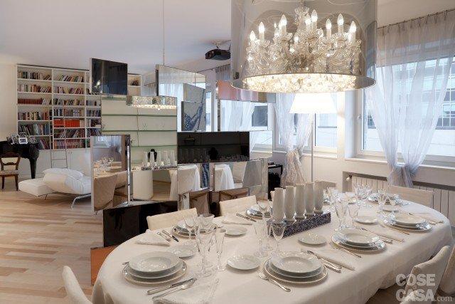 zona pranzo casa ristrutturata per risparmio energetico