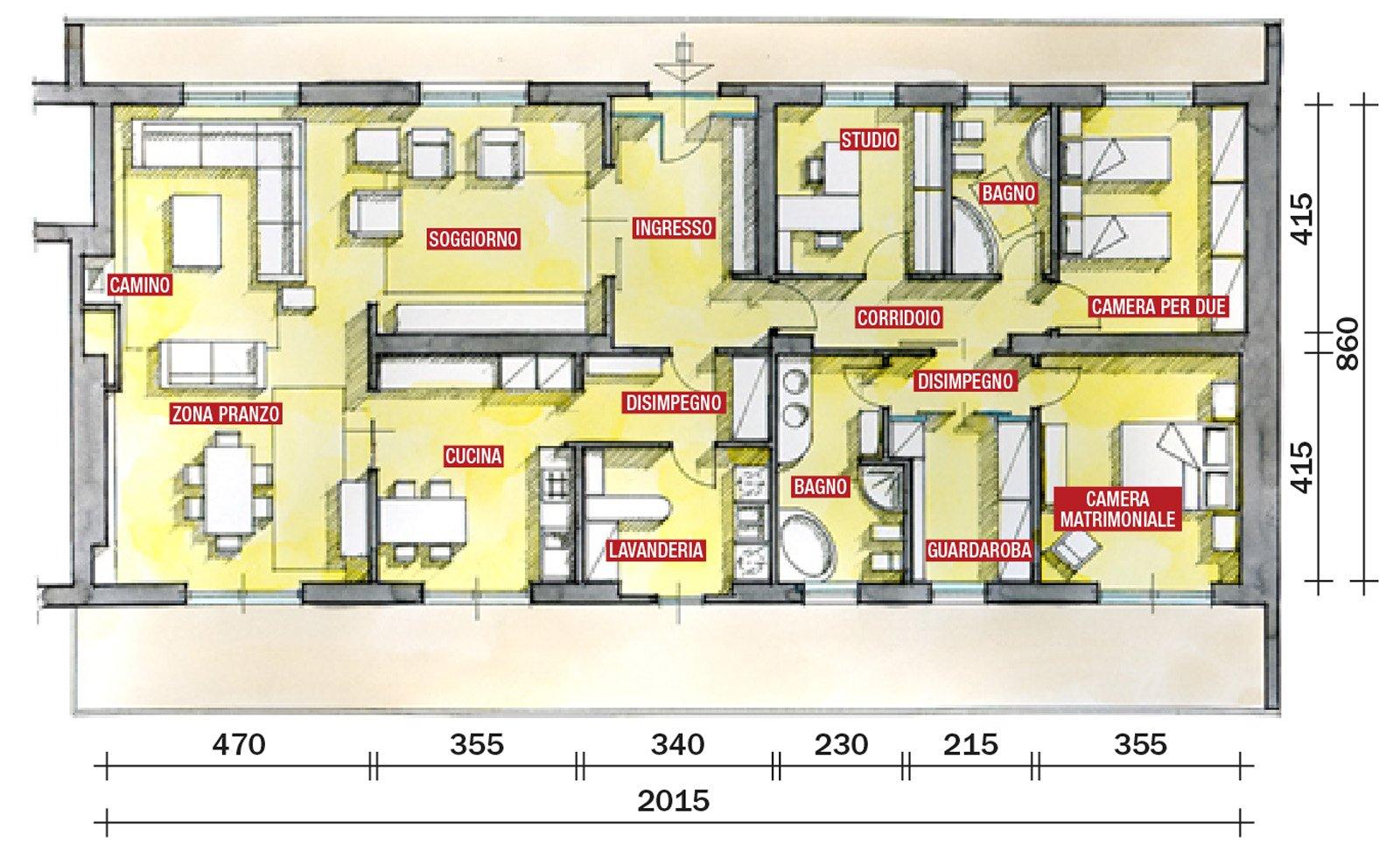 Una casa con tante idee da copiare cose di casa for Progetti di case moderne a un solo piano
