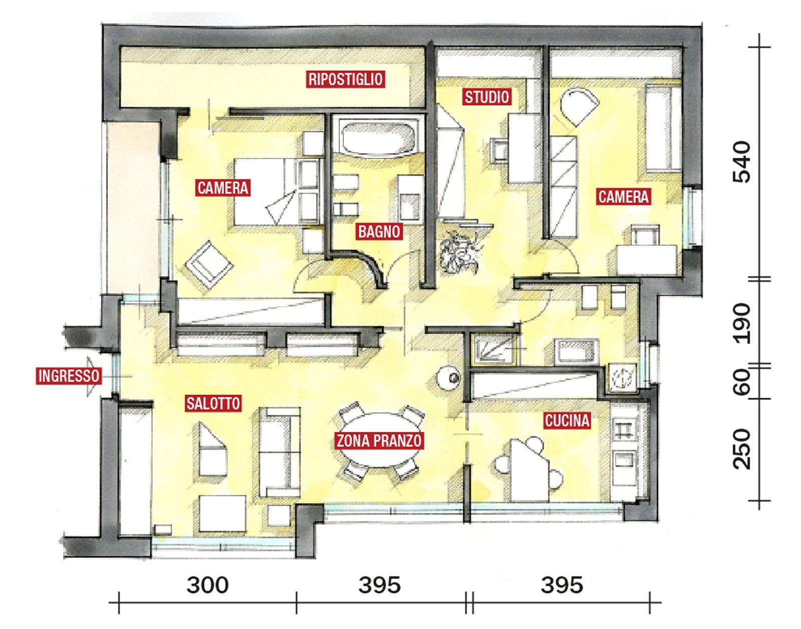 Casa in mansarda con le soluzioni giuste per gli spazi for Planimetrie della casa senza garage