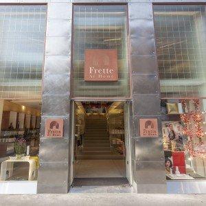 L'ingresso del nuovo flagship store Frette At Home in corso Vercelli a Milano. www.frette.com